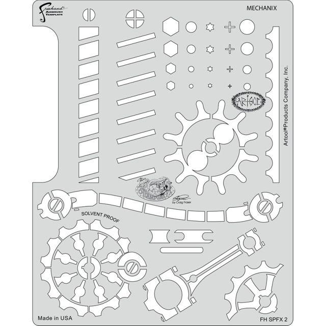 artool - Mechanix - Steampunk FX Schablone 200 474