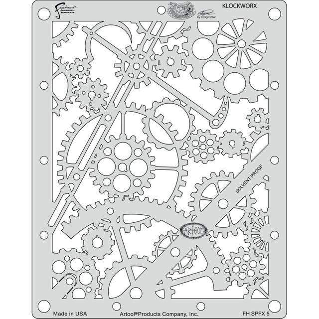 artool - Klockworx - Steampunk FX Schablone 200 477