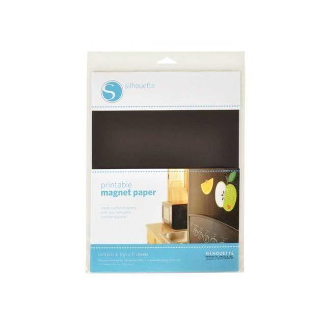 Silhouette Magnetpapier bedruckbar für eigene Magnete