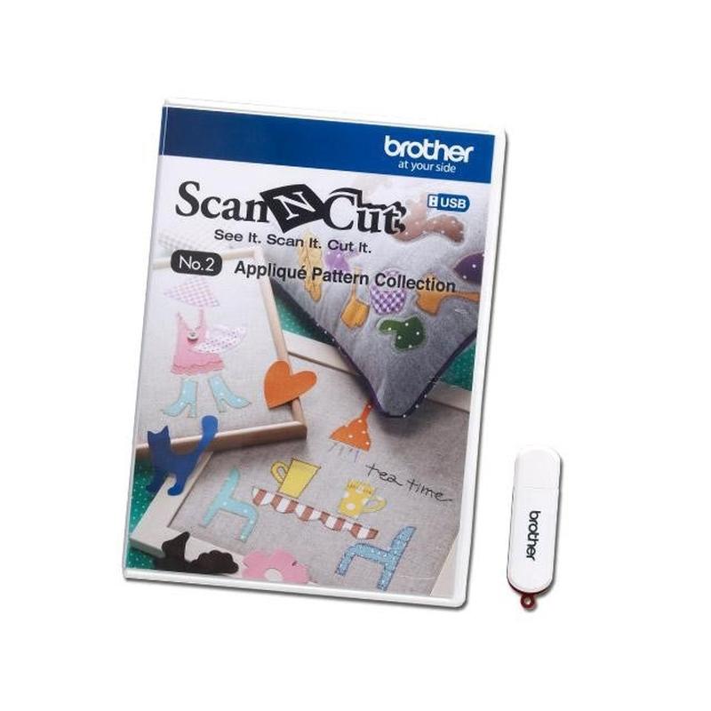 ScanNCut Designs DVD Nr. 2 Applikationsmuster-Sammlung CAUSB2 für Brother Scan-N-Cut Hobbyplotter