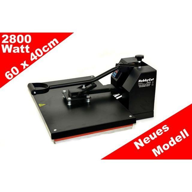 HobbyCut H001-S Transferpresse 60cm x 40cm Textilpresse 2800 Watt
