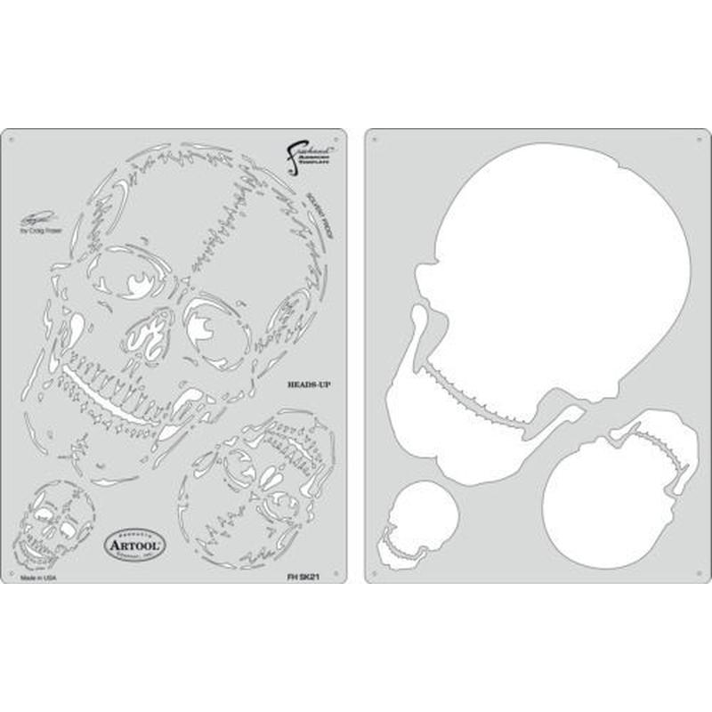 artool, Hears-Up - Schablonenset, Horror of Skull 200 401