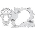 artool - Pack O' Skullz 2 Totenköpfe Airbrush Schablone 200 529