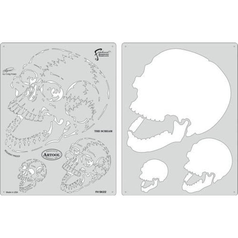 artool,The Scream - Schablonenset,Horror of Skull 200 402
