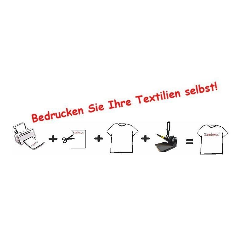 20 Stück T-Shirt Folie Transferfolie A3 für dunkle Stoffe