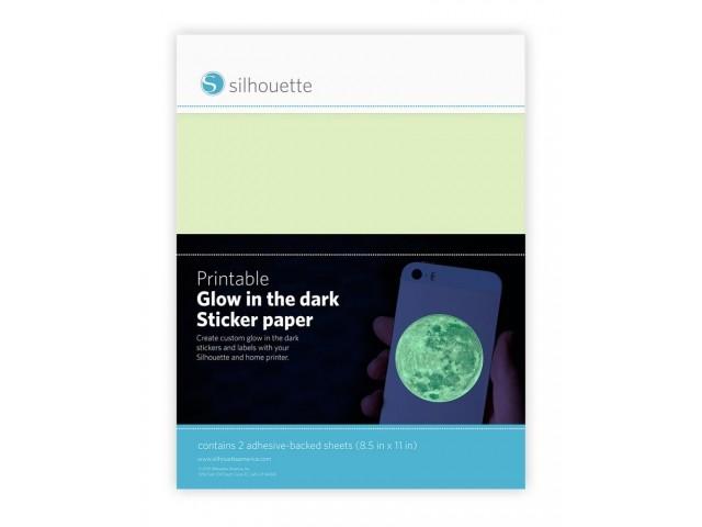 Bedruckbares Stickerpapier Glow in the dark Silhouette GT1901171