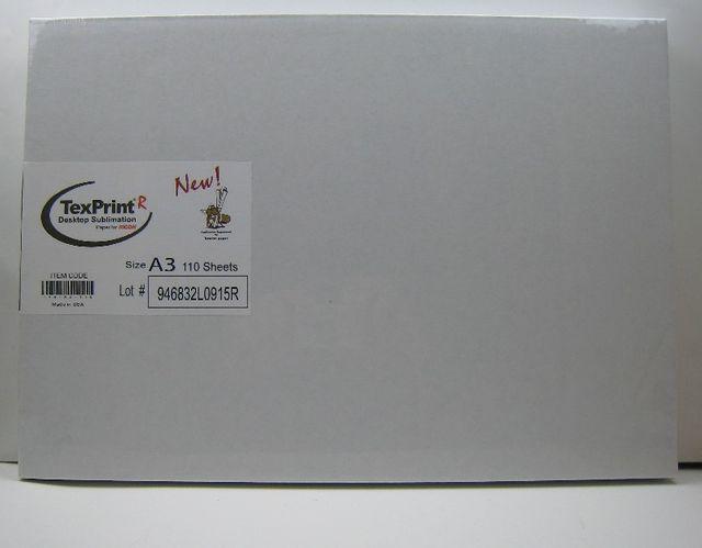 Sublimationspapier Transferfolie TexPrint-R  110 Stück A3