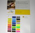 Poli Flex Turbo Farbkarte Farbtabelle Plotterfolie Flexfolie 001