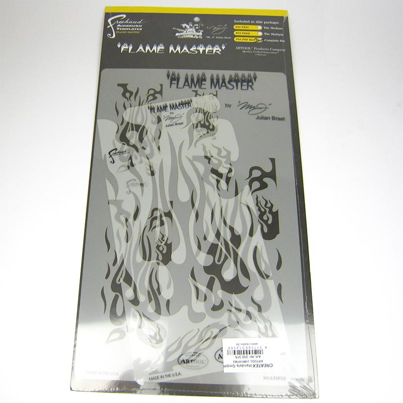 artool, Freihandschablone - complete Set - Flame 200 315