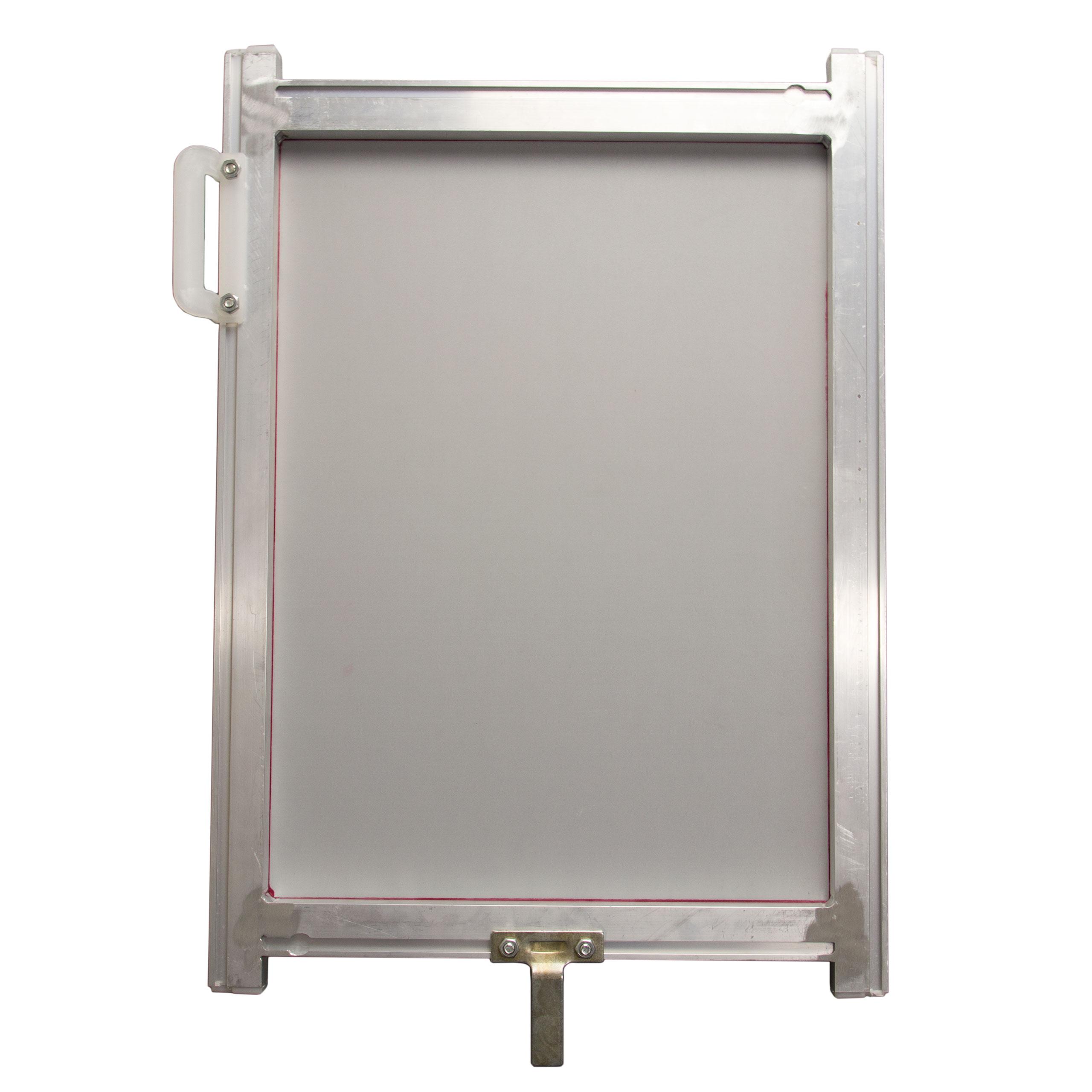 5 x Siebdruckrahmen 43T Line Table 40x55cm Textildruck weiss auf schwarz DIN-A3+